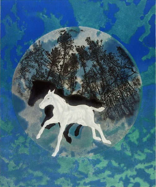 Japanese Horse paintings and prints by Yoshihiro SHIMODA
