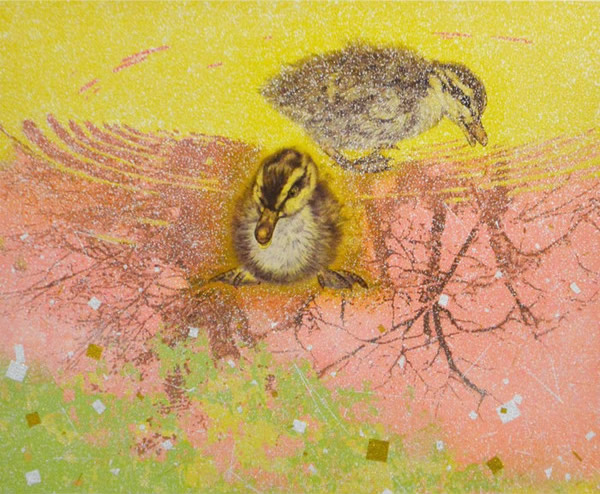 Japanese Bird paintings and prints by Yoshihiro SHIMODA