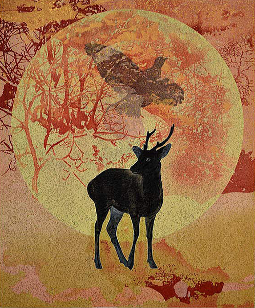 Japanese Deer paintings and prints by Yoshihiro SHIMODA