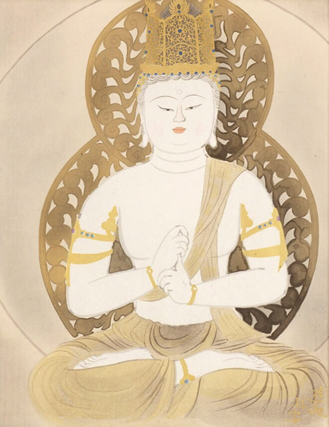 Japanese Statue of Buddha paintings and prints by Yuki OGURA