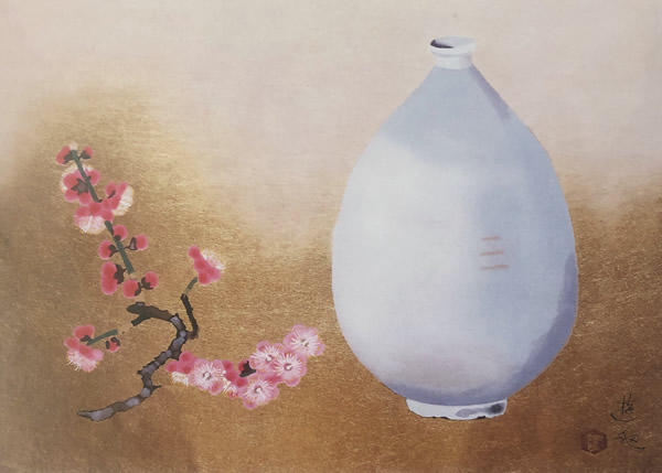 Japanese Plum Blossom paintings and prints by Yuki OGURA